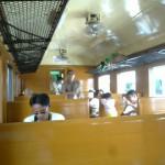 タイの列車の中