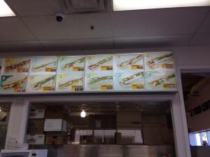 バトナムパンのメニュー