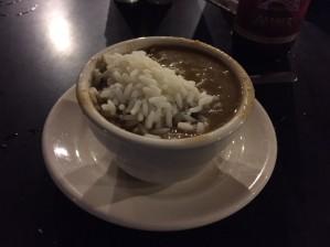 ケイジャン料理のガンボスープ